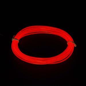 日本トラストテクノロジー LightingWire 3m ライトレッド JTT JTLW3M-LR 直径2.3mm 折り曲げ自由なUSB給電の光るELワイヤー 光る衣装制作/車のドレスアップなど|digital7