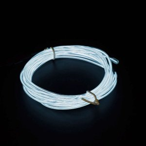 日本トラストテクノロジー LightingWire 3m ホワイト JTT JTLW3M-WH 直径2.3mm 折り曲げ自由なUSB給電の光るELワイヤー 光る衣装制作/車のドレスアップなど|digital7