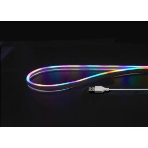 日本トラストテクノロジー USBネオンチューブライト 2m レインボー JTT NEONLT2M-RB 200LED IP65防水 曲がる照明をDIYで|digital7