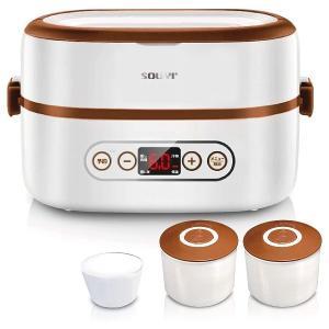 ソウイジャパン マルチ炊飯器 SOUYI SY-110 炊飯/蒸す/煮るが1台で!ご飯とおかずの同時調理 ほったらかし調理器 コンパクトで持ち運びも可能!電気弁当箱にも digital7