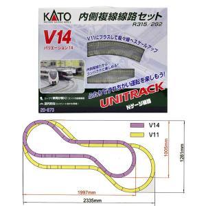 20-873 カトー KATO (V14) 内側複線線路セット Nゲージ 鉄道模型 (N0130)