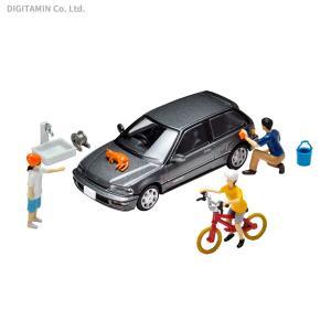 トミーテック 1/64 02b ジオコレ64 #カースナップ02b 洗車 【5月予約】
