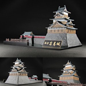 プラム 1/200 諏訪高島城 プラモデル(Z2422)