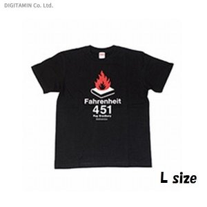 SFTシャツ 華氏451度・黒 L◆ネコポス送料無料(ZB56973) digitamin