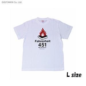SFTシャツ 華氏451度・白 L◆ネコポス送料無料(ZB56974) digitamin