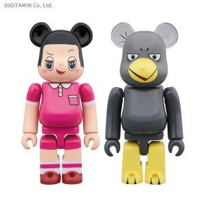 メディコム・トイ BE@RBRICK チコちゃん & キョエちゃん 2PACK フィギュア (ZF64176)|digitamin