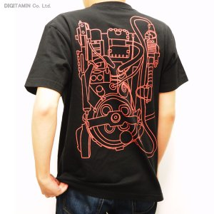 送料無料◆YUTAS ゴーストバスターズ オフィシャルライセンス プロトンパックTシャツ Type.A(BLACK) XLサイズ(ZG21279)|digitamin
