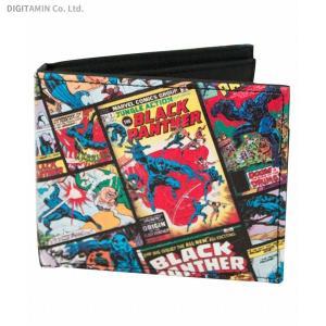 ブラックパンサー コミックカバー バイフォールド ウォレット (2つ折り財布) バイオワールド(ZG48671)|digitamin
