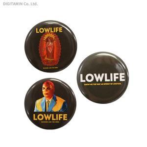 ローライフ LOWLIFE 缶バッジ 3種セット YUTAS(ZG61485)|digitamin