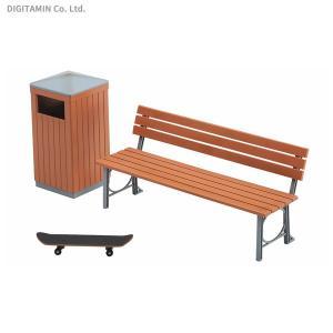 ハセガワ 1/12 公園のベンチとゴミ箱 可動フィギュア用アクセサリー プラモデル FA10 ※完全新金型(ZS28801) digitamin