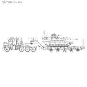 タコム 1/72 米軍 M1070 & M1000 70トン 戦車運搬車w/M1A2 SEP エイブラムス TUSKII 主力戦車 TKO5002X (ZS60781)|digitamin