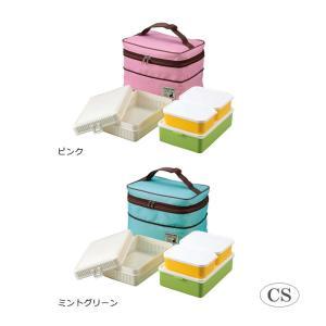 おにぎりケース、おかずケースのセット  保冷バッグ付き   サイズ (約)保冷バッグ:幅255×奥行...