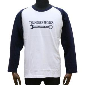 エアフィッシュ 【AirFish】 THUNDER WORKS ロングTシャツ 【ホワイト/ネイビー】|dimension-3