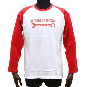 エアフィッシュ 【AirFish】 THUNDER WORKS ロングTシャツ 【ホワイト/レッド】|dimension-3