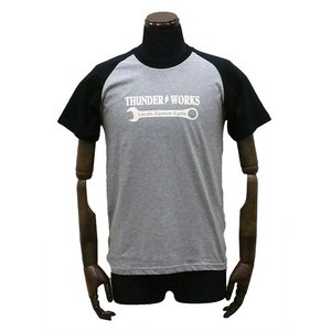 エアフィッシュ 【AirFish】 THUNDER WORKS Tシャツ 【ヘザーグレー/ブラック】|dimension-3