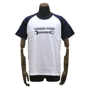 エアフィッシュ 【AirFish】 THUNDER WORKS Tシャツ 【ホワイト/ネイビー】|dimension-3