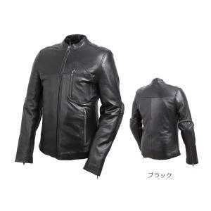 デグナー 【DEGNER】 レザージャケット (ブラック) (羊革) 【19SJ-1】|dimension-3
