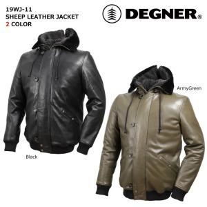 デグナー 【DEGNER】 シープレザージャケット 【19WJ-11】|dimension-3