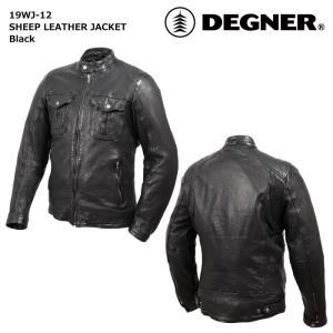 デグナー 【DEGNER】 シープレザージャケット (ブラック) 【19WJ-12】|dimension-3