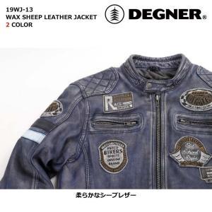 デグナー 【DEGNER】 ワックスシープレザージャケット 【19WJ-13】|dimension-3|03