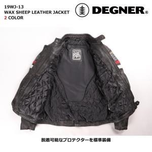 デグナー 【DEGNER】 ワックスシープレザージャケット 【19WJ-13】|dimension-3|05