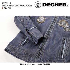 デグナー 【DEGNER】 ワックスシープレザージャケット 【19WJ-13】|dimension-3|07