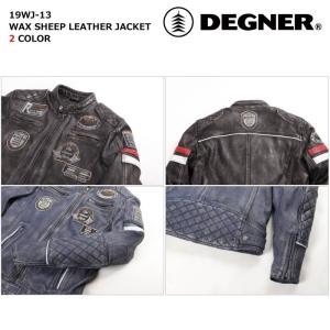 デグナー 【DEGNER】 ワックスシープレザージャケット 【19WJ-13】|dimension-3|08