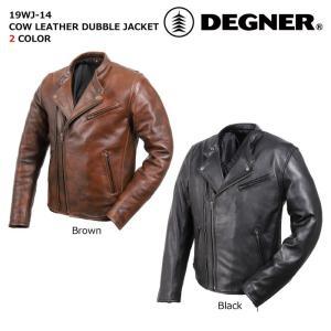 デグナー 【DEGNER】 カウレザーダブルジャケット 【19WJ-14】|dimension-3