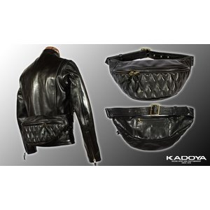 KADOYA カドヤ HFG/WAIST BAG-PTD HFGウェストバッグ・パテッド 8496|dimension-3