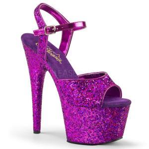 厚底サンダル 紫 パープル ホログラフィック グリッター Pleaser プリーザー|dimples