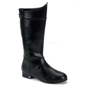 薄厚底ロングブーツ 黒 ブラック つや消し Pleaser プリーザー|dimples