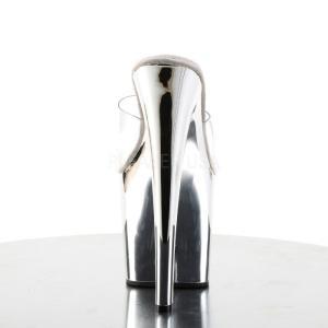 厚底ミュールサンダル クリア 銀 シルバー クロム Pleaser プリーザー|dimples|04