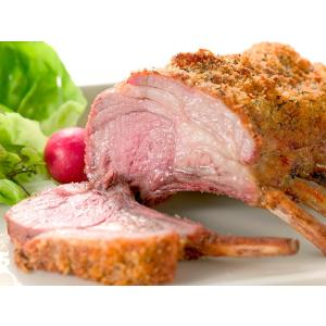 ラム肉(仔羊)フレンチラック8リブ キャップオン(背脂つき)/ラムチョップ1kg台 オーストラリア産|diningplus
