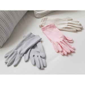就寝用裏シルクうるおい手袋2点セット 721507