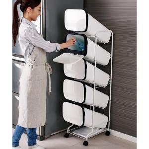 スペースを有効活用する、幅34cmのタワー型 ◆縦のスペースを活用できるので、狭いキッチンの空間にも...