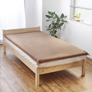 ダブル(洗える100%ナチュラルキャメル敷き毛布) 725445