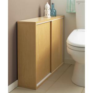 トイレ収納庫 引き戸タイプ 幅85cm・4段 705519