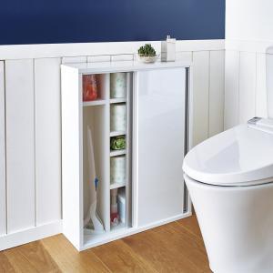 トイレ収納庫 引き戸タイプ 幅60cm・5段 705518
