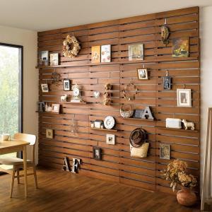 パイン天然木突っ張り式 デコレーション壁面ラック 幅60cm 956602