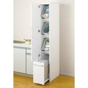 〜隙間収納だからシンプルデザインがおすすめの分別ゴミ箱〜◆ホワイトカラーで、すき間をスッキリ埋める。...