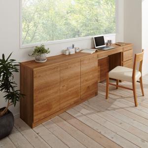 天然木調薄型コンパクトオフィスシリーズ デスク・幅80cm 664421