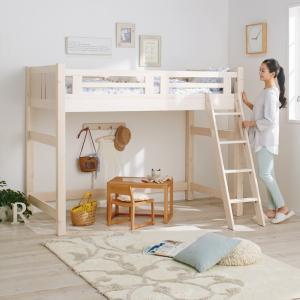 子どもたちの夢や憧れを叶える子ども部屋空間に。70mm角の太い支柱と厚めのすのこ床板で丈夫さや安心感...
