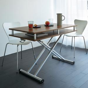 棚付き昇降式テーブル 幅102(天板90)cm 677412