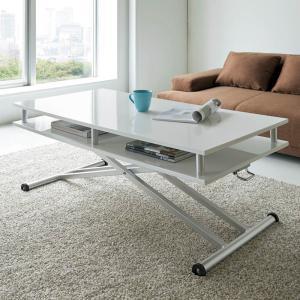 棚付き昇降式テーブル 幅120cm 677413