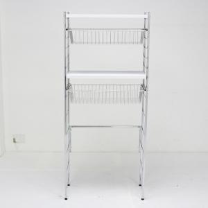 ランドリーを上質な空間に変えるモダンな洗濯機ラックです●水回りに映える備え付けのようなスタイリッシュ...
