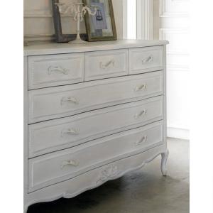 シャビーシック ホワイト フレンチ収納家具シリーズ チェスト 幅120 dinos