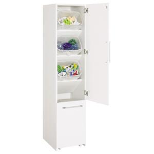〜隙間収納を利用して多分別ダストボックスを〜◆ホワイトカラーで、すき間をスッキリ埋める。キッチン収納...