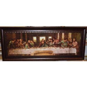 レオナルド ダ ヴィンチ 最後の晩餐 名画絵画 立体複製画 49cm×113cm インテリア|dipint
