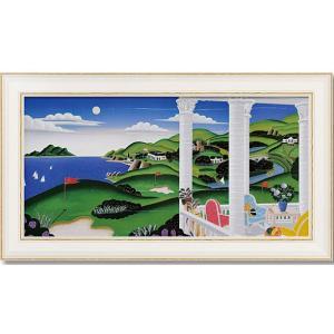 インテリア 絵画 トーマスマックナイト 「シーサイドゴルフ」 風景 モダン dipint
