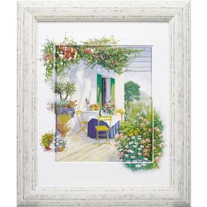 絵画 風景 ピーターモッツ 「ベランダ イン ブルーム1」 玄関 インテリア 結婚祝い dipint